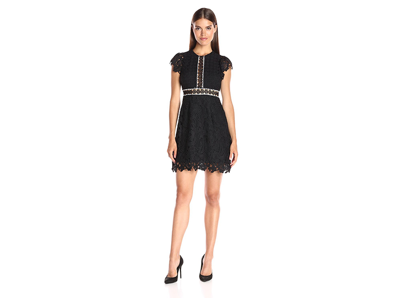 Cynthia Rowley Lace Dress with Ruffles