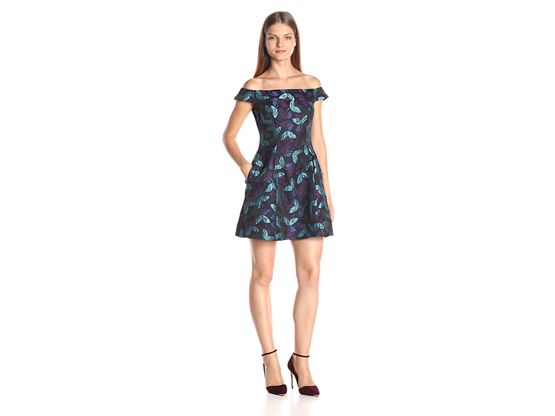 Cynthia Rowley Off the Shoulder Bombe Dress