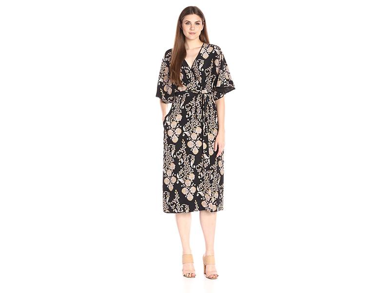 Cynthia Rowley Ornate Flower Print Gown