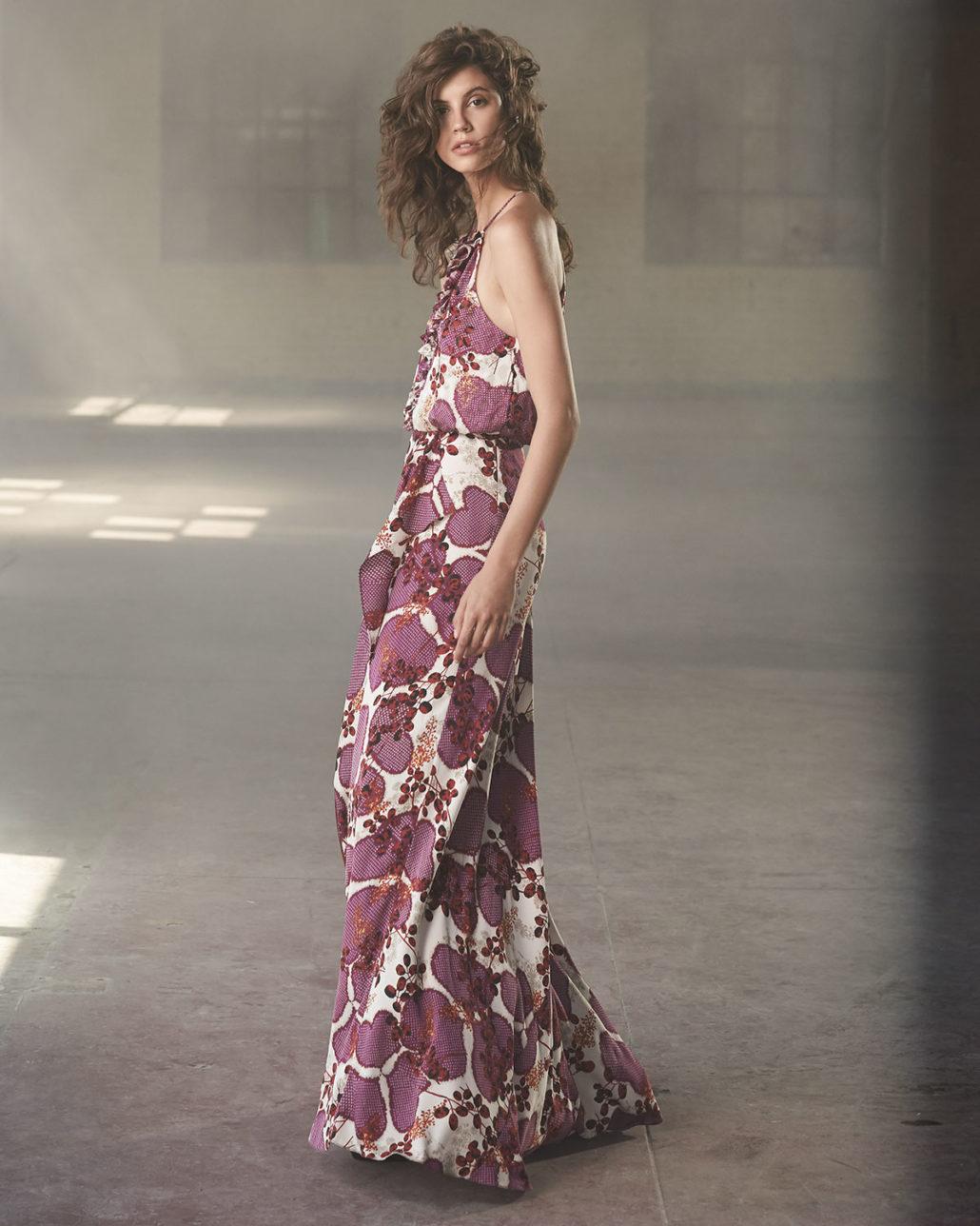 Diane von Furstenberg Veronnica Floral-Print Halter-Neck Gown