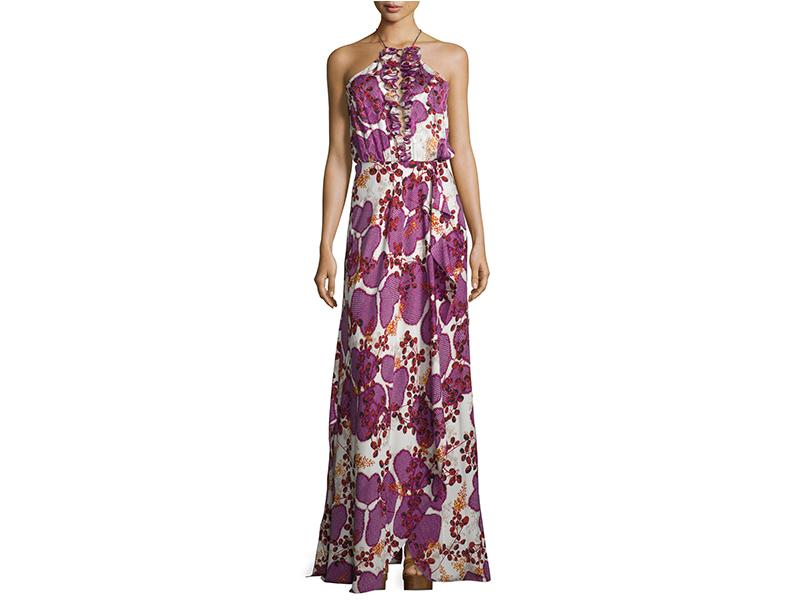Diane von Furstenberg Veronnica Floral-Print Halter-Neck Gown_1