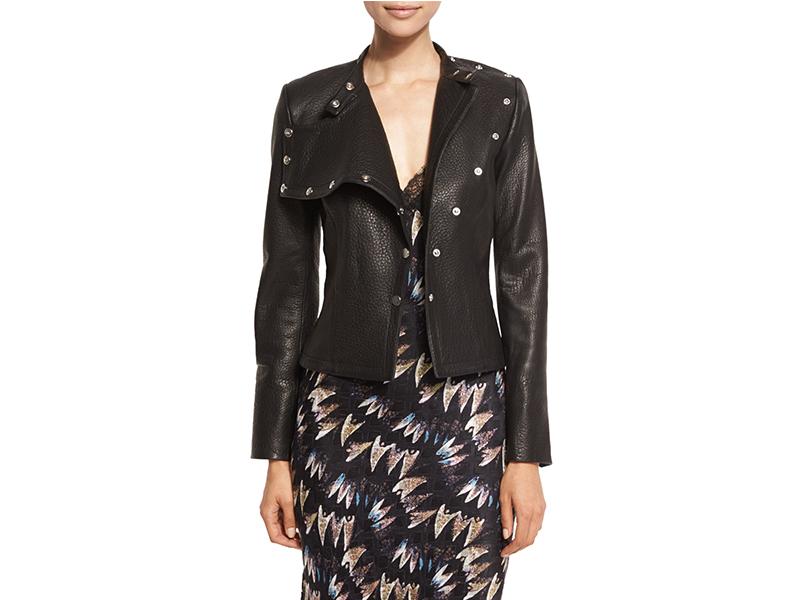 Diane von Furstenberg Warrior Asymmetric Leather Jacket