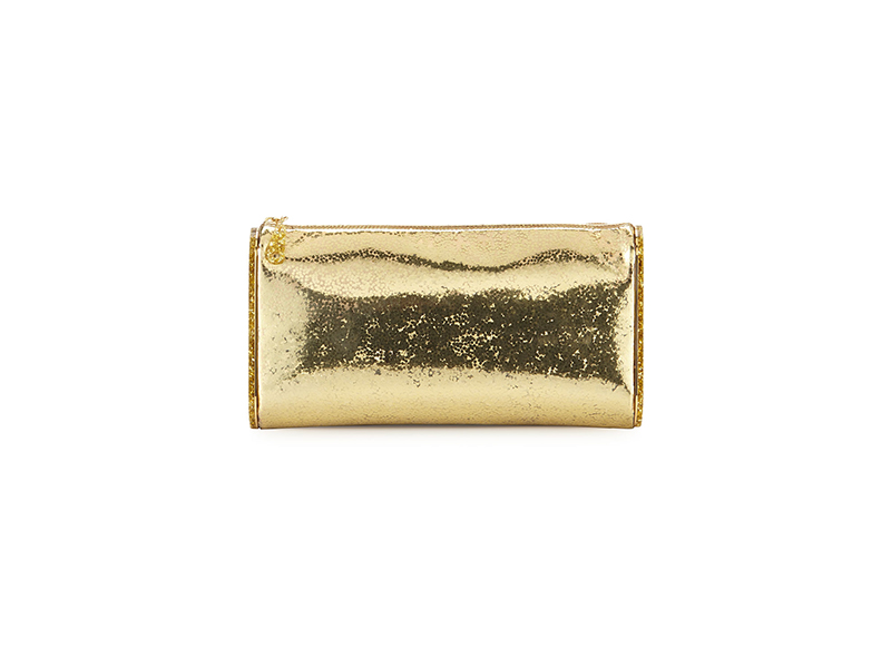 Edie Parker Lara Jumbo Metallic Clutch Bag
