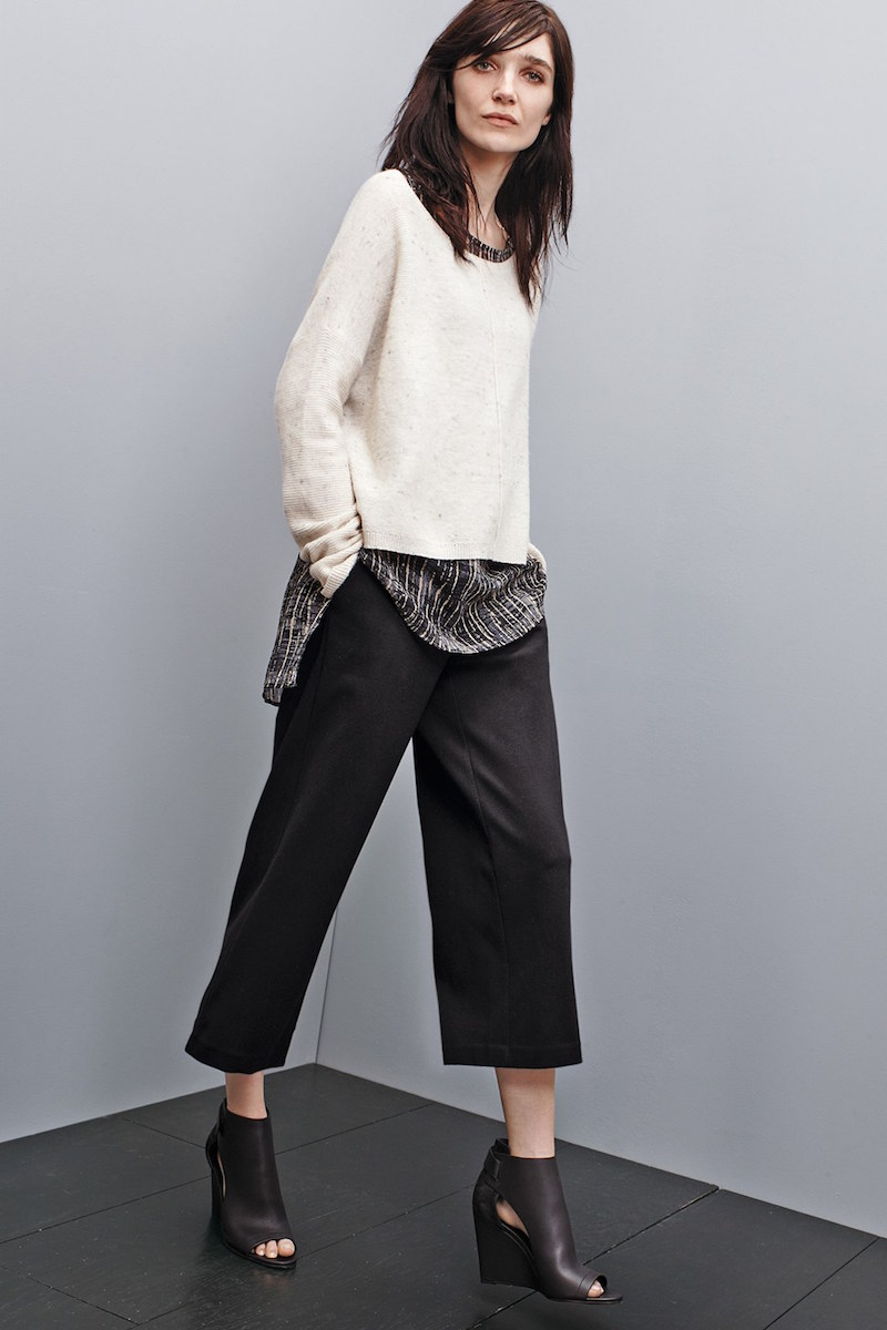 Eileen Fisher Boxy Bateau Neck Sweater