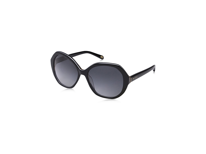 Fossil 2031 S Black Gray Gradient Lens Sunglasses