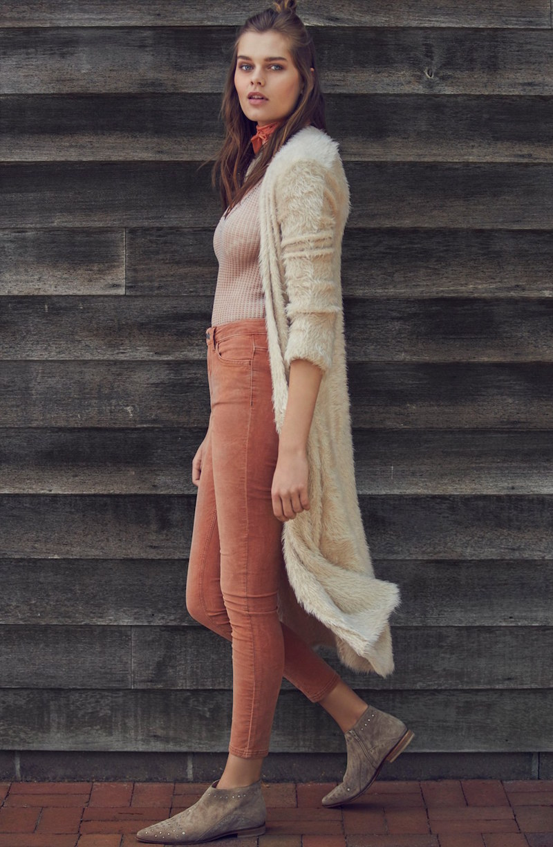 Free People Hampton Shaggy Long Cardigan