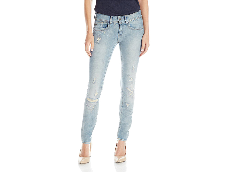 G-Star Raw Lynn Mid Rise Skinny Fit Jean In Notto Stretch