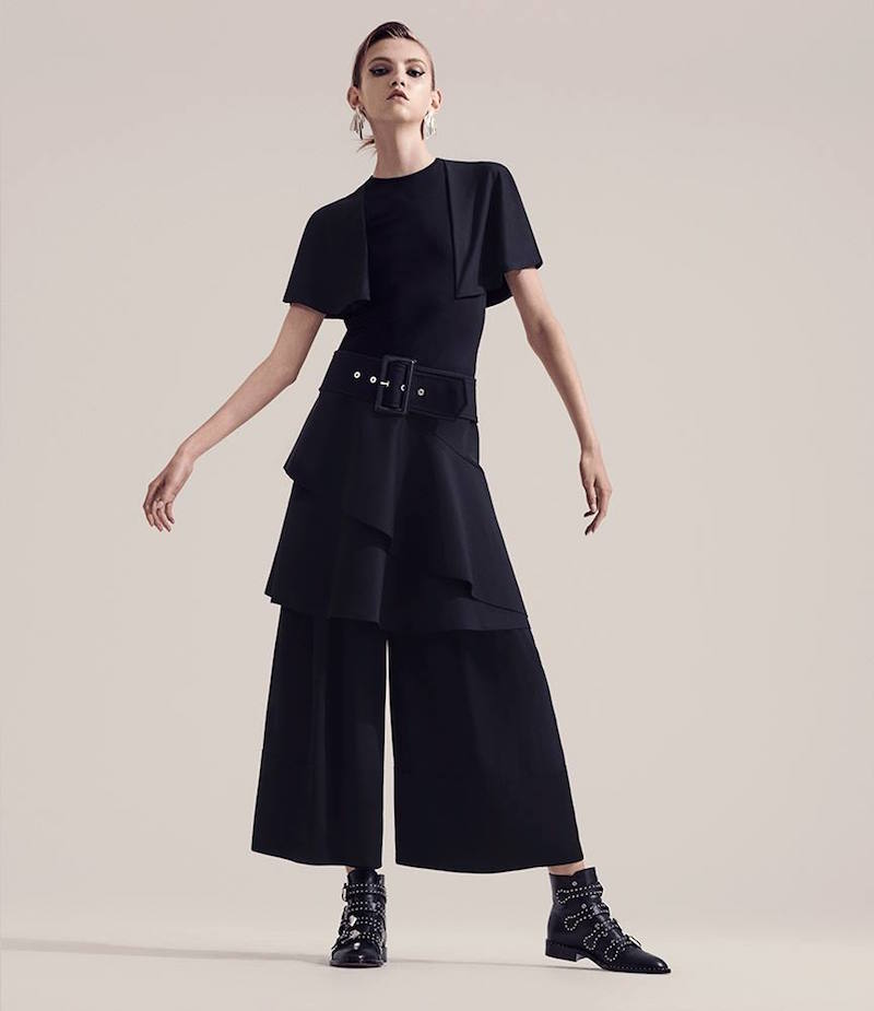 Givenchy Cape-Effect Compact Knit Dress
