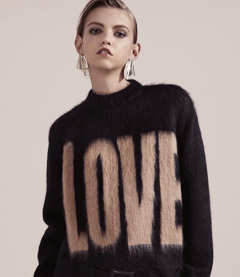 Givenchy Love Shaggy Sweater