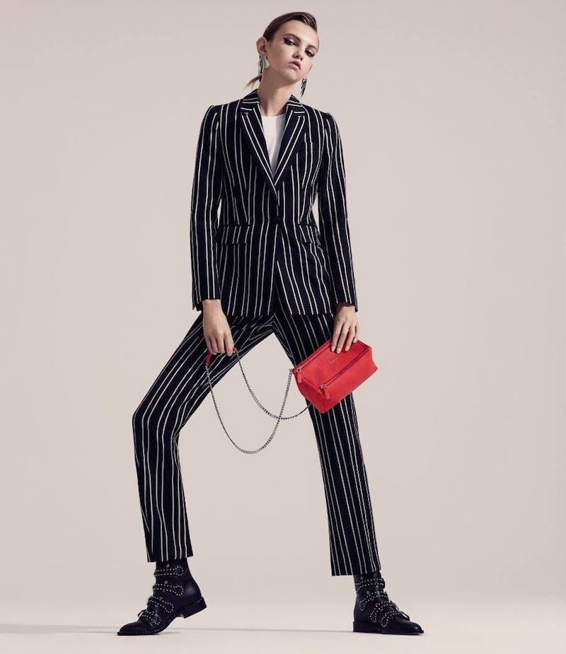 Givenchy Pinstriped Single-Button Blazer