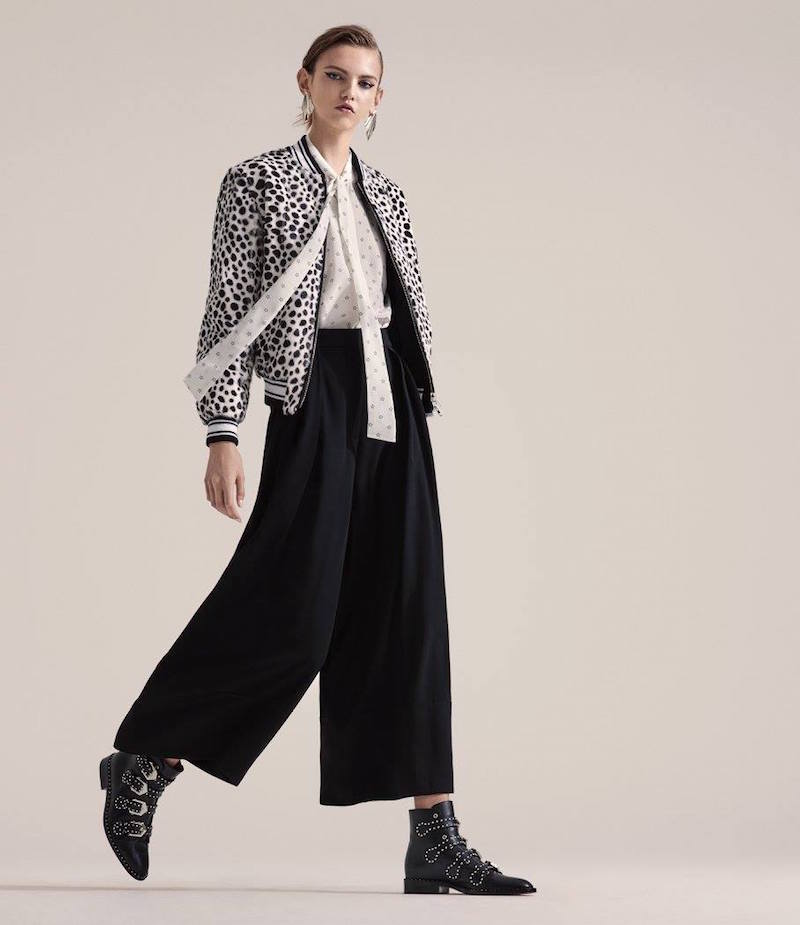 Givenchy Satin-Cuff Crepe Gaucho Pants