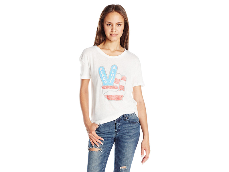 Goodie Two Sleeves Peace Love Americana Graphic Tee