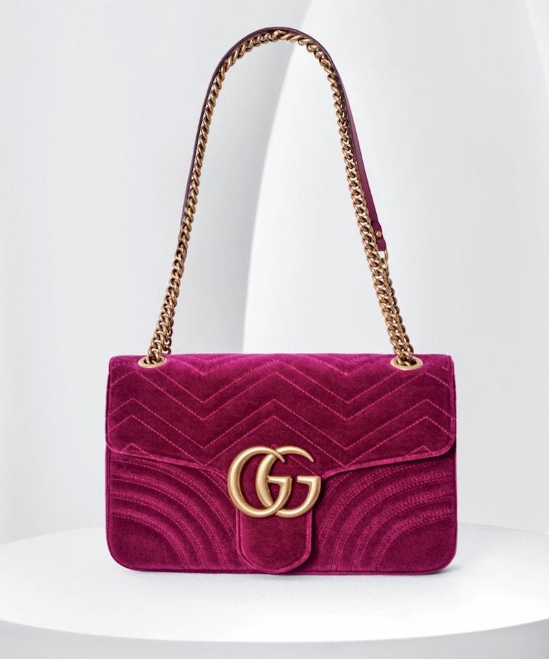 Gucci Bosa Marmont 2.0 Suede Handbag