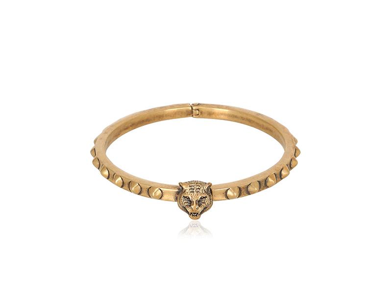 Gucci Feline Brass Bracelet