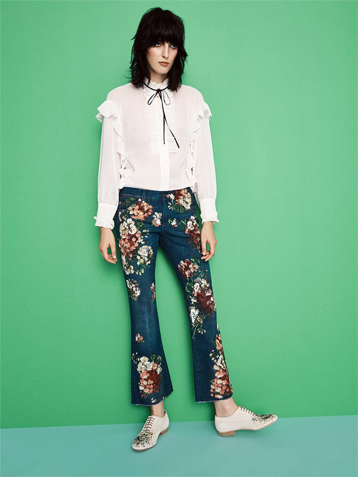 Gucci Floral Jeans