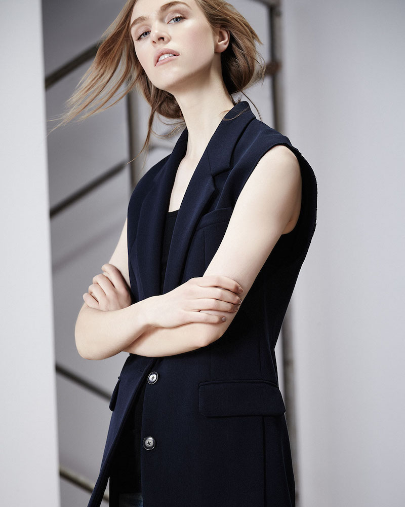 Helmut Lang Long Two-Button Vest