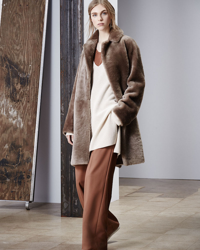 Helmut Lang Reversible Shearling Coat