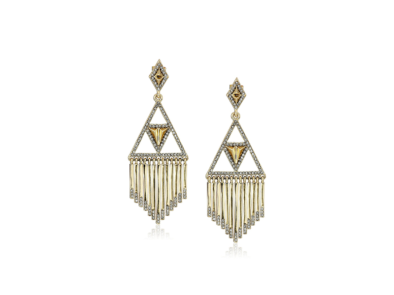 House of Harlow 1960 Golden Hour Fringe Drop Earrings