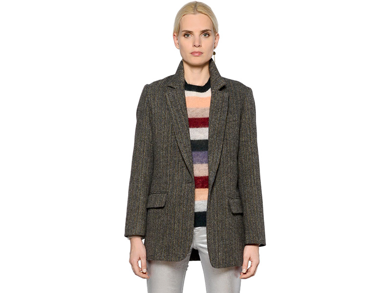Isabel Marant Étoile Oversized Wool Herringbone Jacket