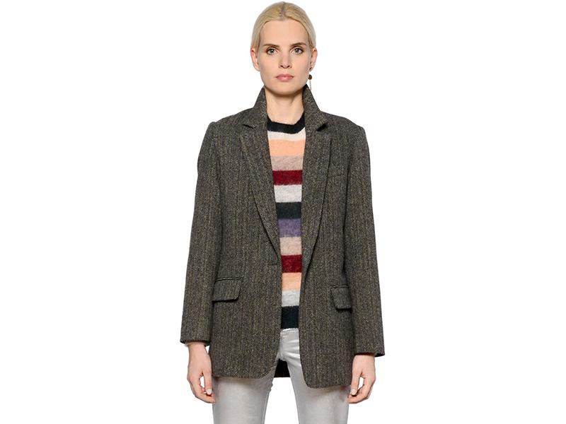 Isabel Marant Étoile Oversized Wool Herringbone Jacket