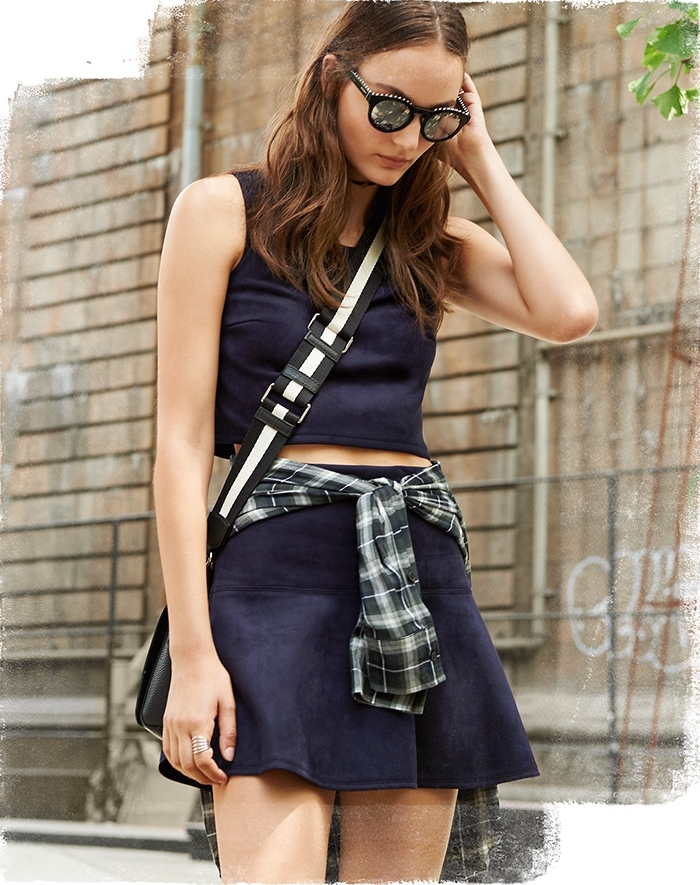 Jack by BB Dakota Abrams Faux Suede Mini Skirt