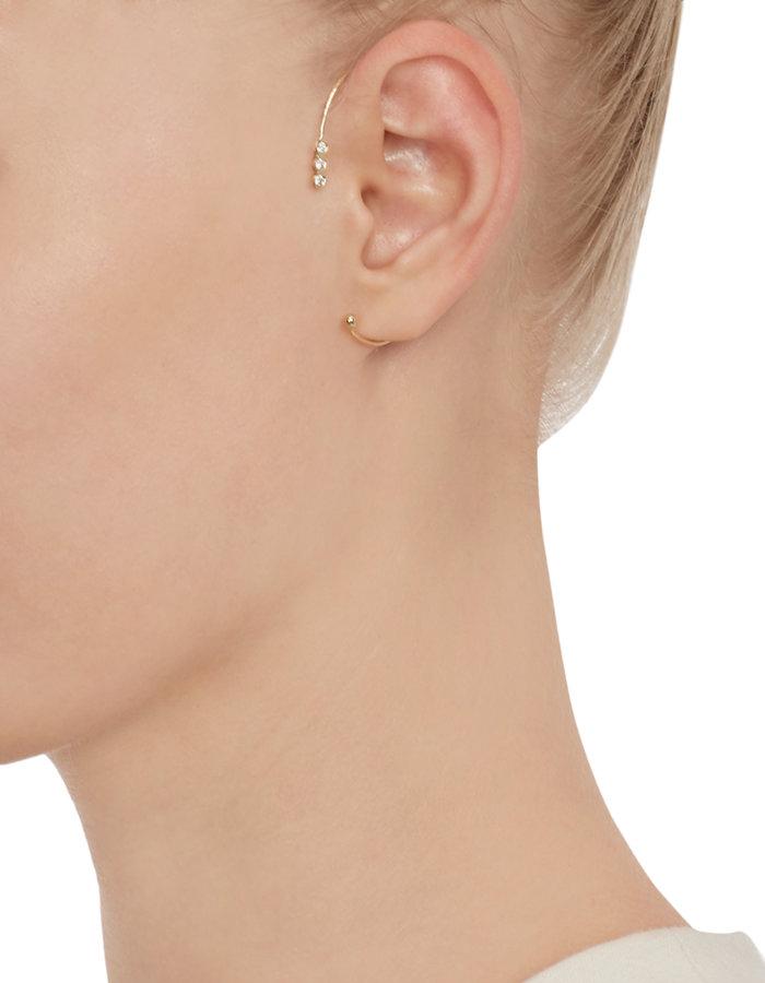 Jennie Kwon Diamond & Gold Ear Cuff