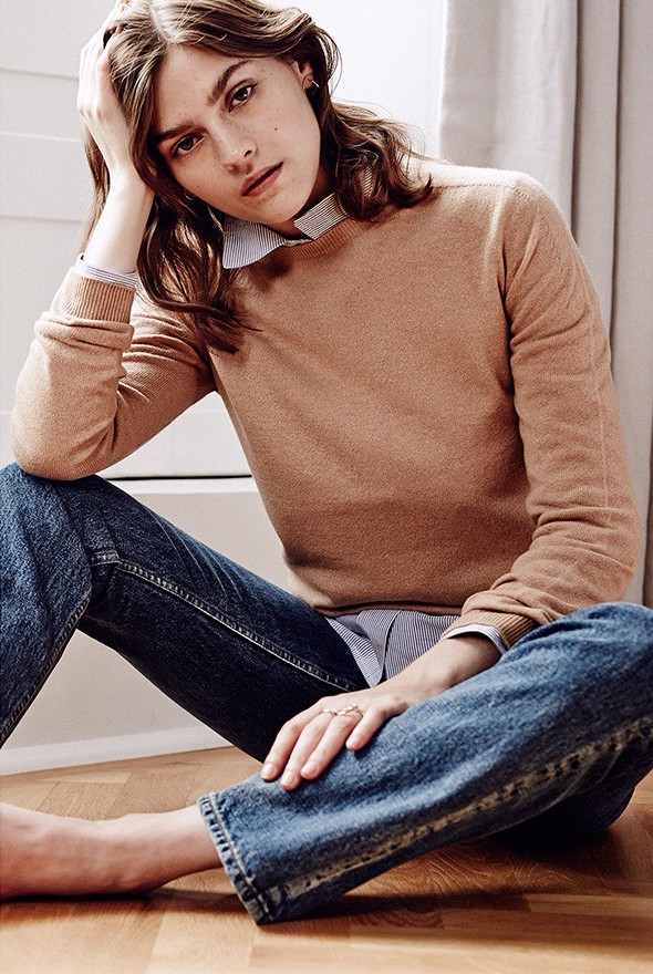 Jil Sander Round-neck Long-sleeved Sweater
