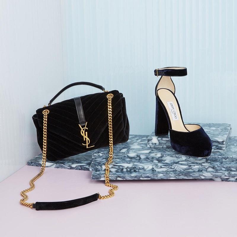 Jimmy Choo Daphne 120 velvet heeled sandals