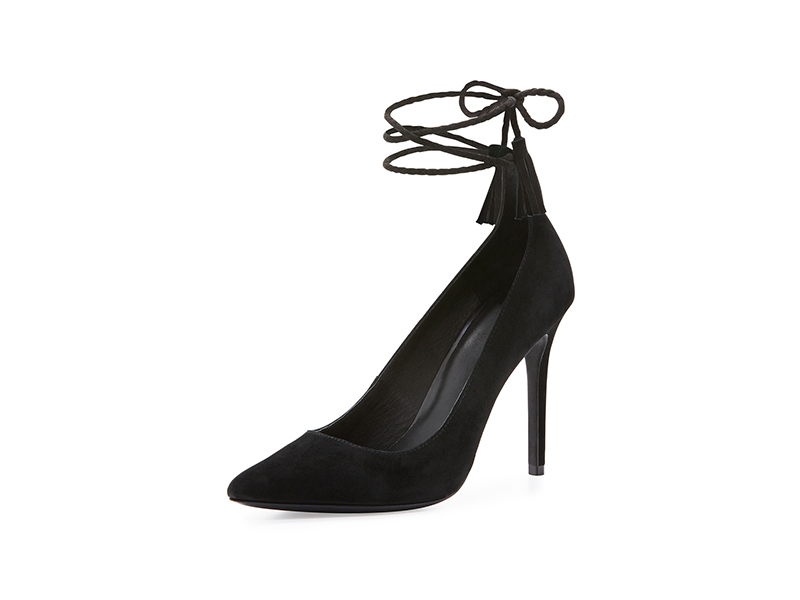 Joie Angelynn Suede Ankle-Wrap Pump