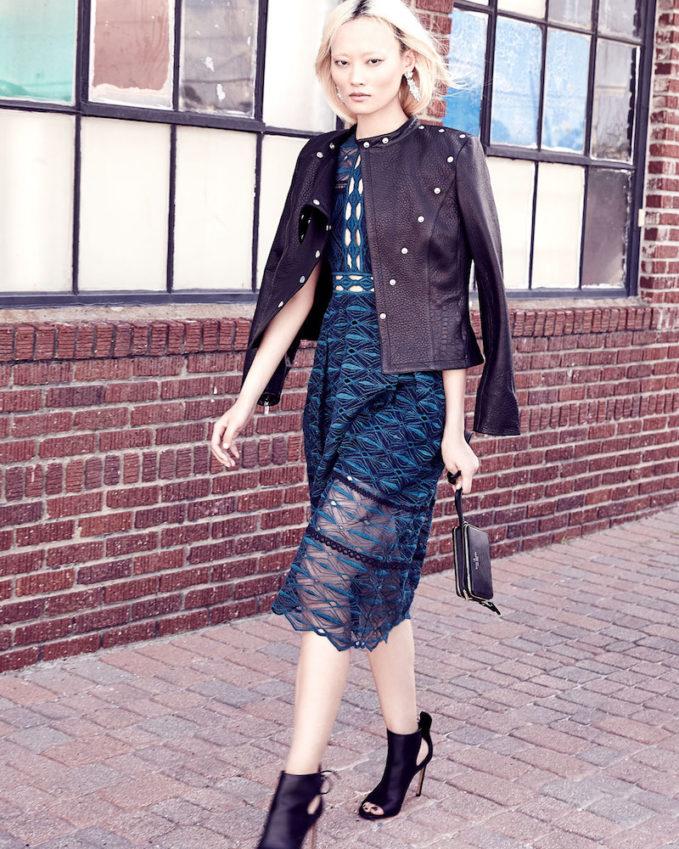 Jonathan Simkhai Mixed-Embroidery Sleeveless Midi Dress