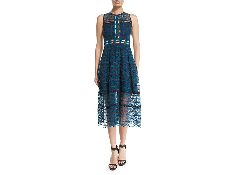 Jonathan Simkhai Mixed-Embroidery Sleeveless Midi Dress_1
