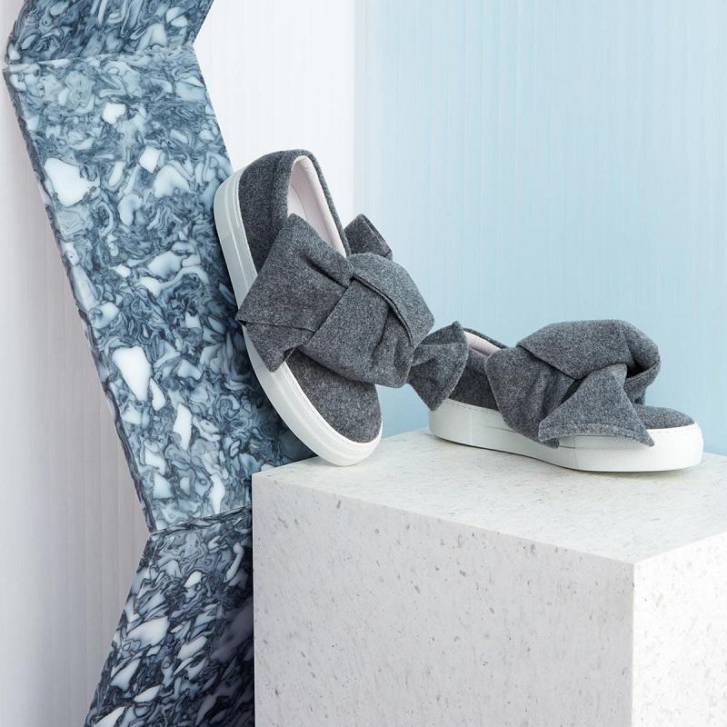 Joshua Sanders Felt bow skate shoes
