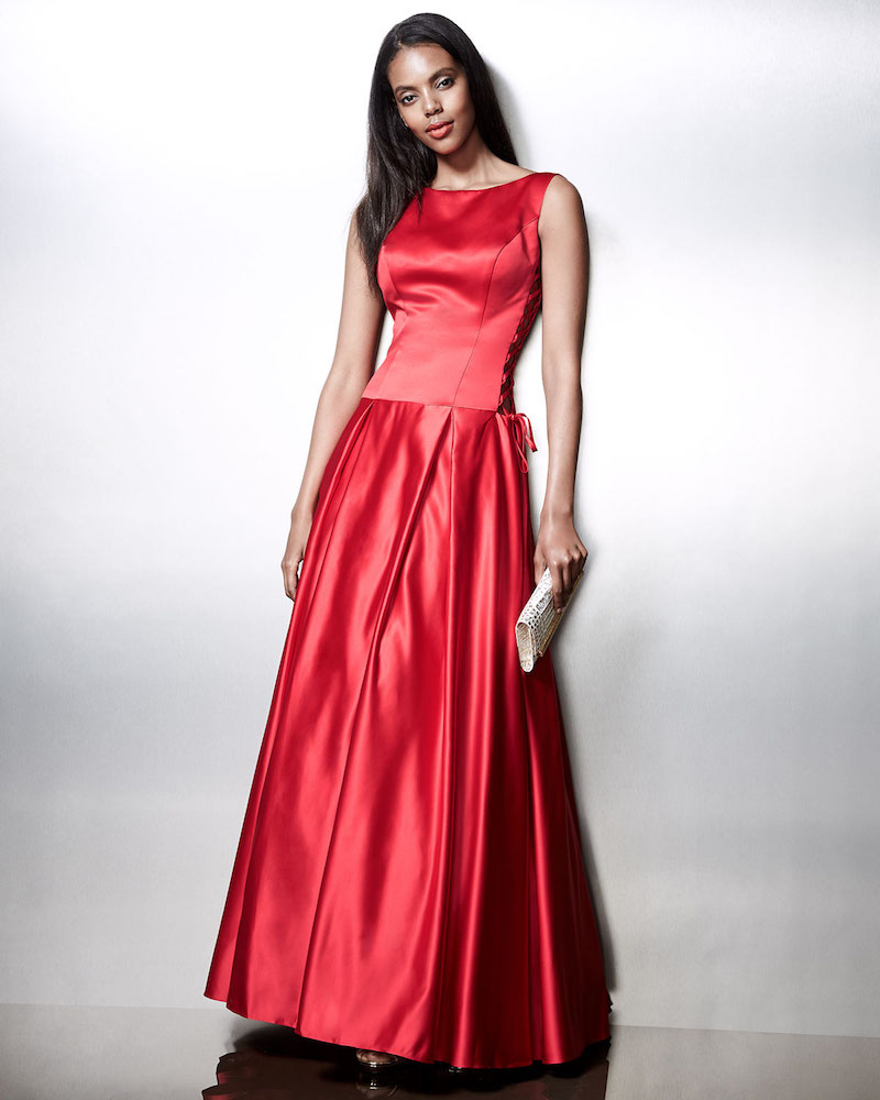 Jovani Sleeveless Pleated Satin Ball Gown