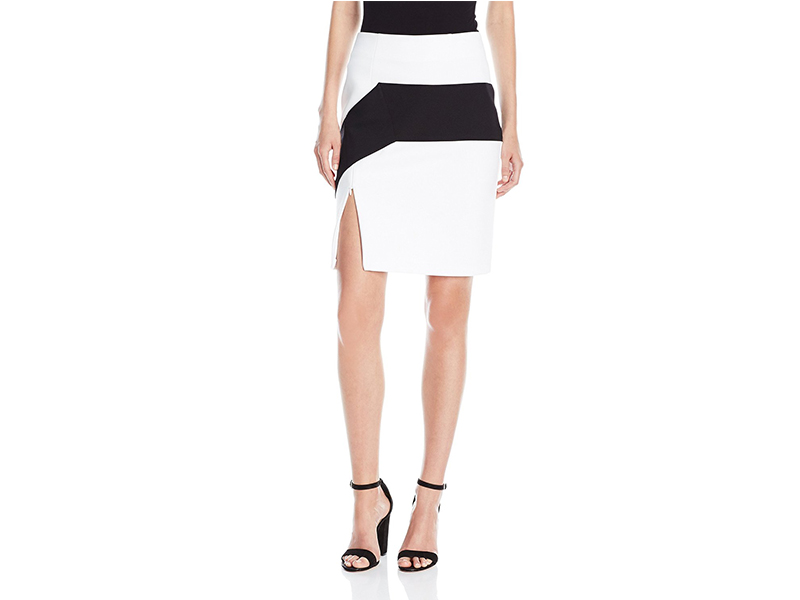 KENDALL + KYLIE Colorblock Pencil Skirt