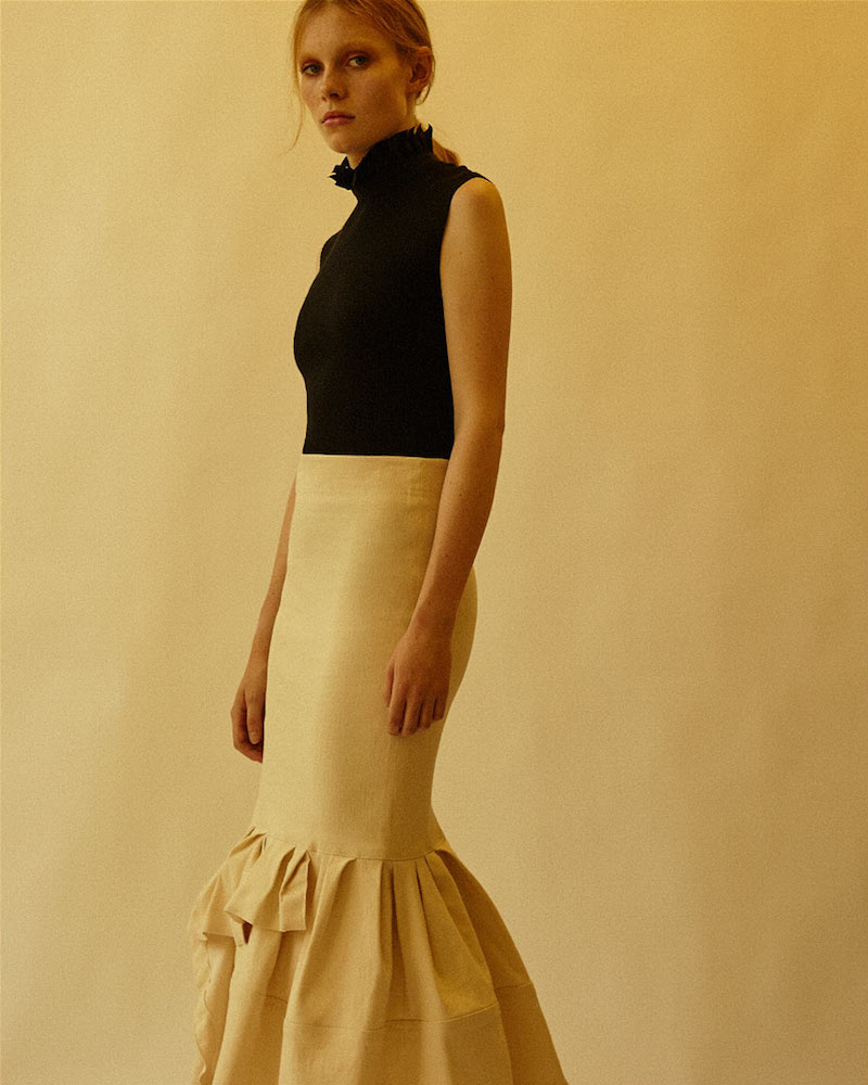 Lanvin Mid-Length Dropped Asymmetric Frill Skirt