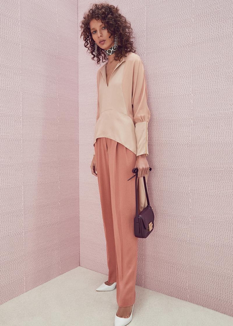 Lanvin Silk Woven Top
