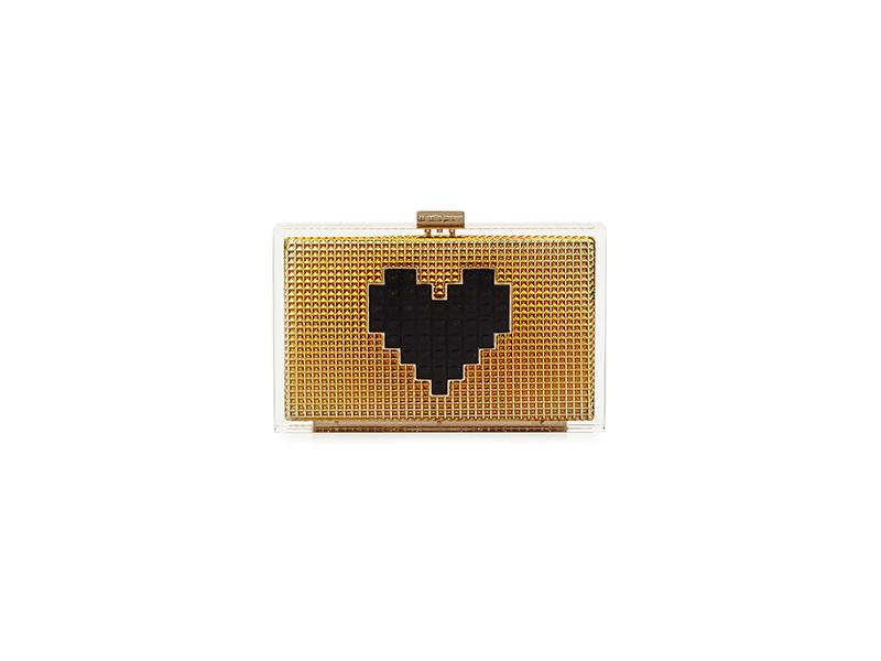 Les Petits Joueurs Grace Lolita Heart Clutch Bag