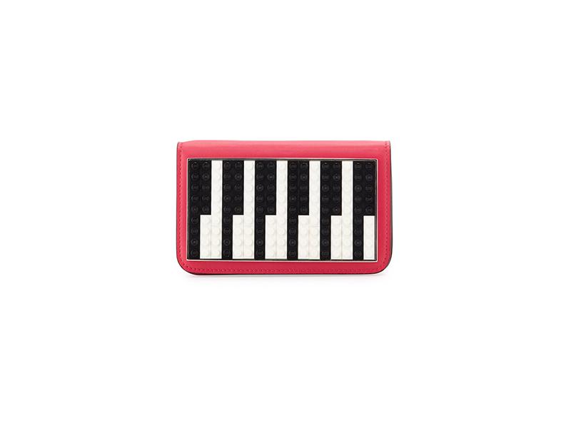 Les Petits Joueurs Janis Micro Piano Leather Clutch Bag