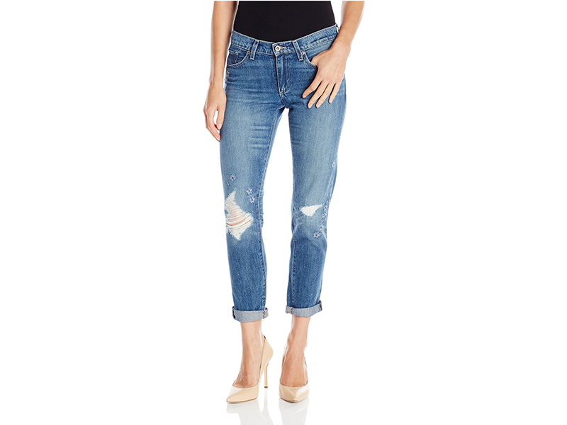 Lucky Brand Sienna Slim Boyfriend in Olympic Blue Jean