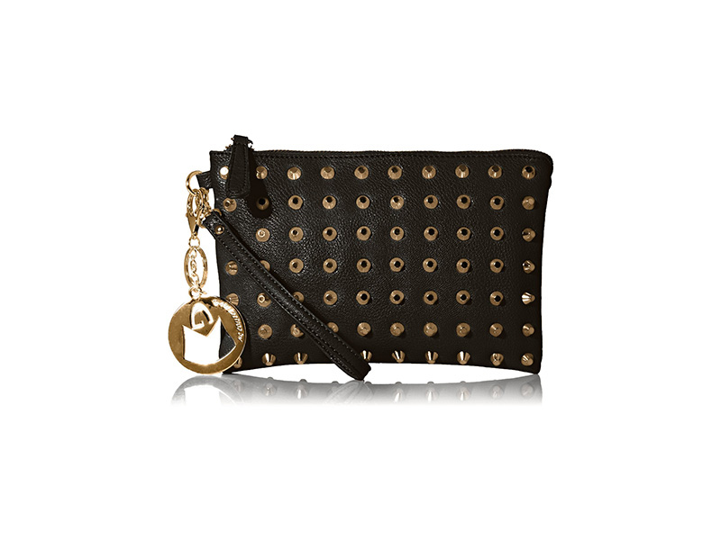MG Collection Kyrie Gothic Studded Wristlet Mini Purse Handbag