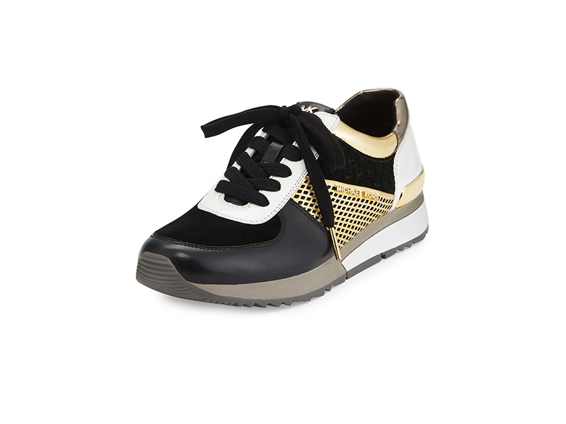 MICHAEL Michael Kors Allie Mixed-Media Trainer Sneaker