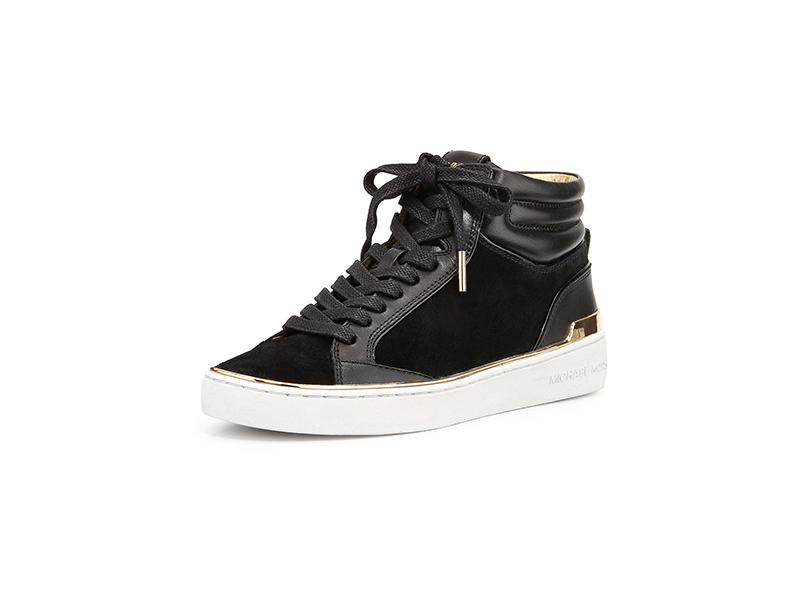 MICHAEL Michael Kors Kyle Leather Suede High-Top Sneaker