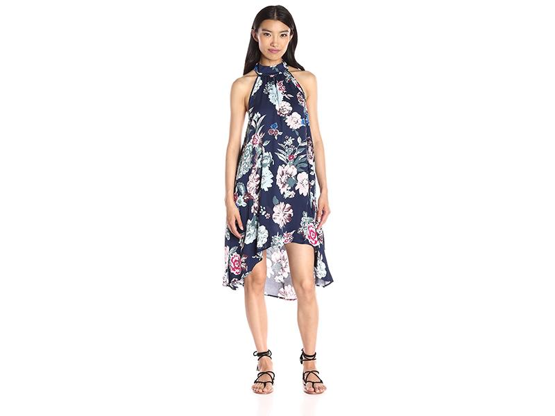 MINKPINK Little Blossom High-Neck Print Swing Dress