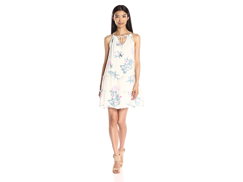 MINKPINK Woratah Floral Print Drop Hem Ruffle Dress