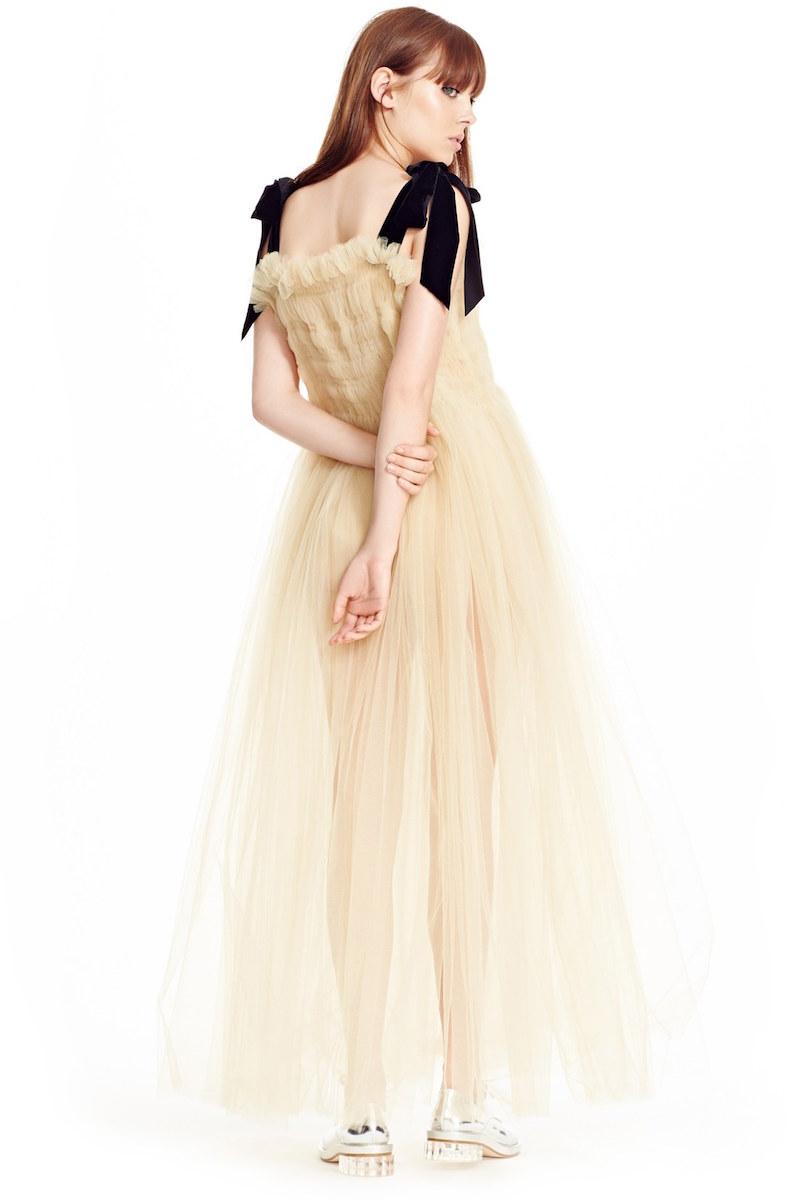 MOLLY GODDARD Claudia Smocked Tulle Dress