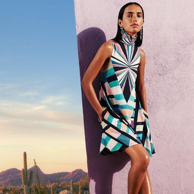 Mara Hoffman Prism Tutleneck Dress