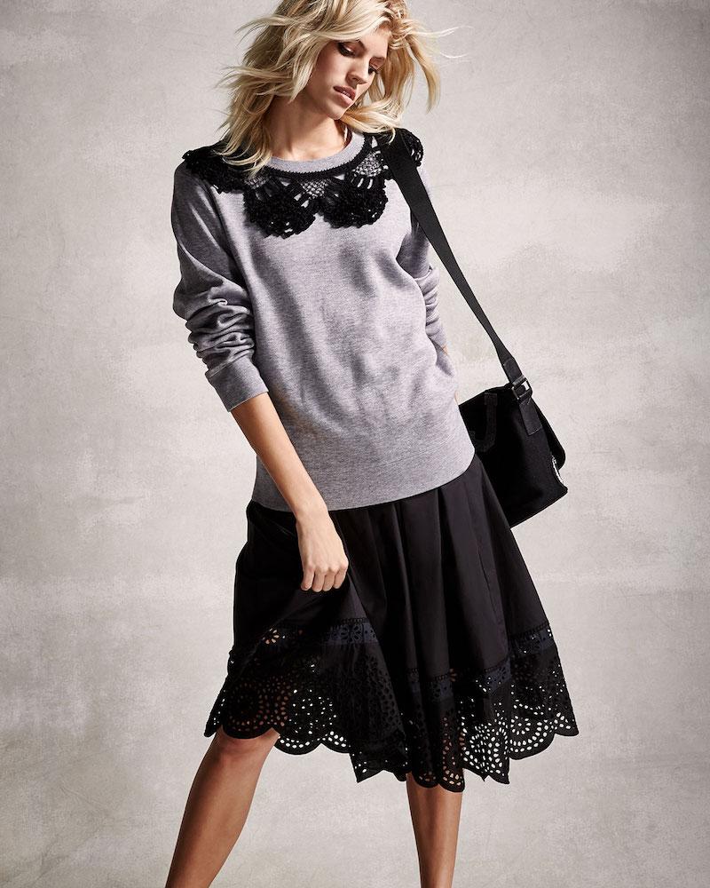 Marc Jacobs Eyelet-Trim Full A-Line Skirt