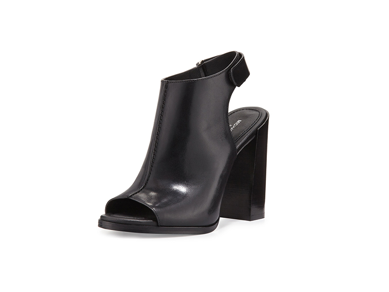Michael Kors Collection Maeve Leather Open-Toe Bootie