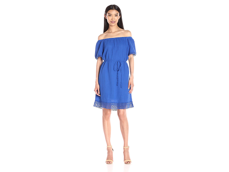 Michael Stars Off-Shoulder Dress with Lace