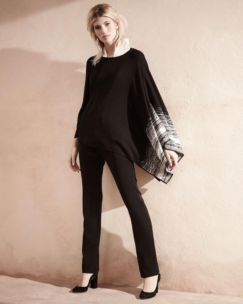 Misook Balancing Act Knit Poncho